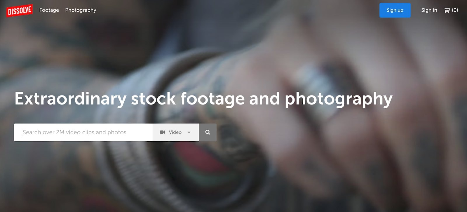 Dissolve stock video website