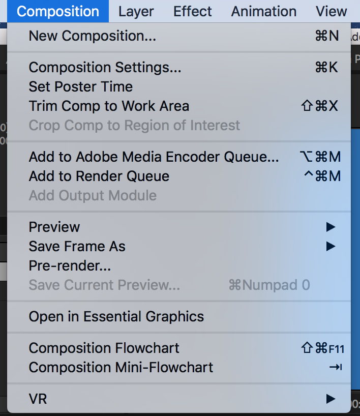 composition shortcuts