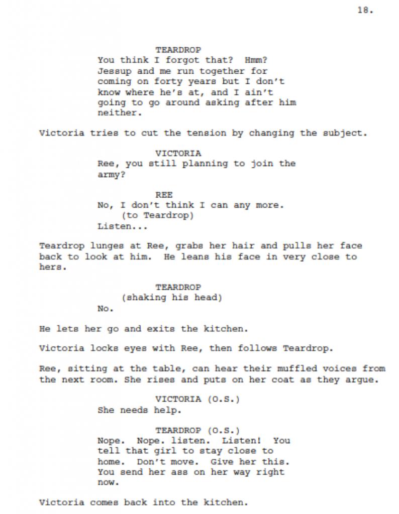 Dialogue script format
