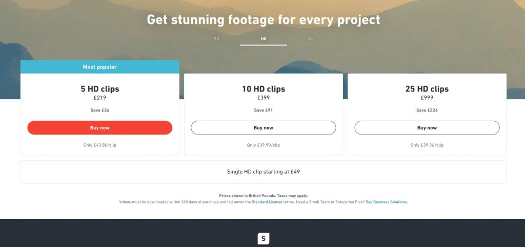 Shutterstock pricing subscriptions
