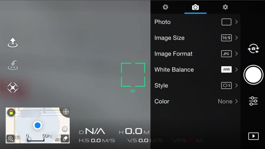DJI Camera settings