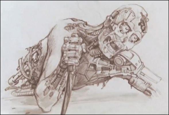 The Terminator concept sketch
