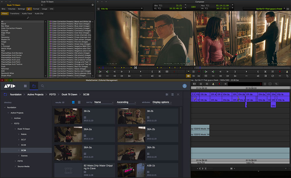 Avid Media Composer video editing software Screenshot