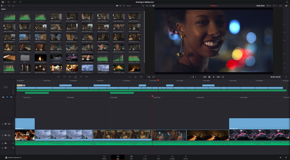 DaVinci Resolve free video editing software screenshot