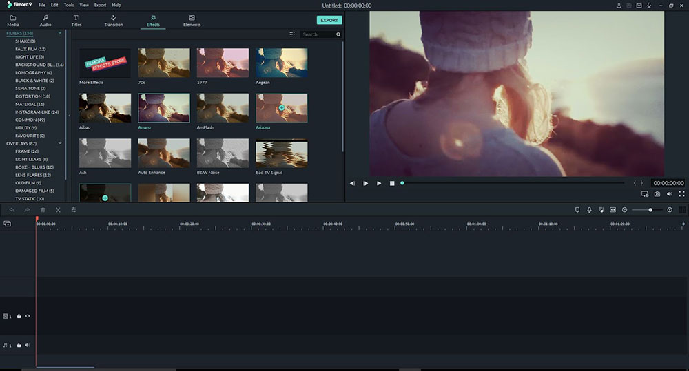 Wondershare Filmora video editing software  Screenshot