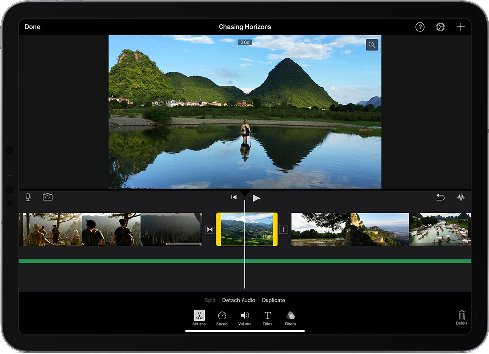 iMovie IOS free video editing software screenshot