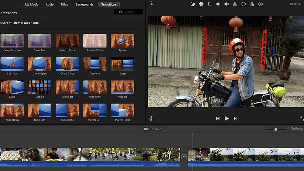 iMovie free video editing software