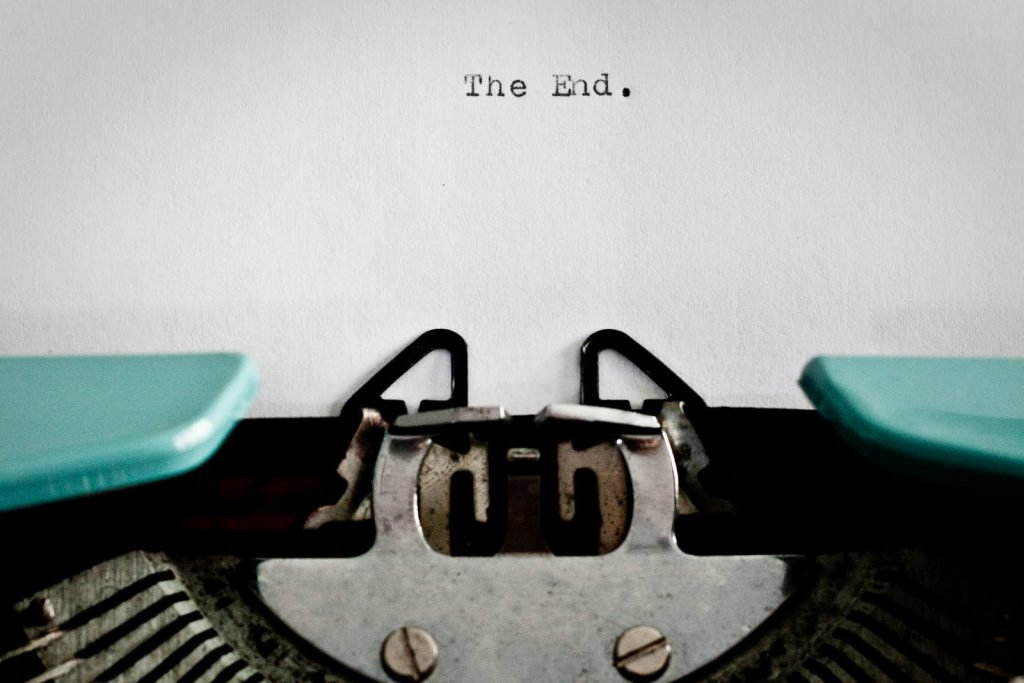 Typewriter script the end