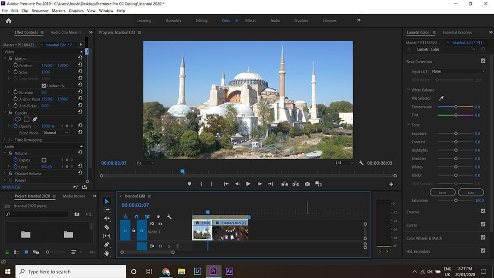 Adobe Lumetri Colour panel