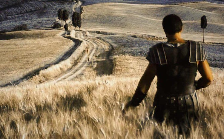 Gladiator screenshot golden colour palette