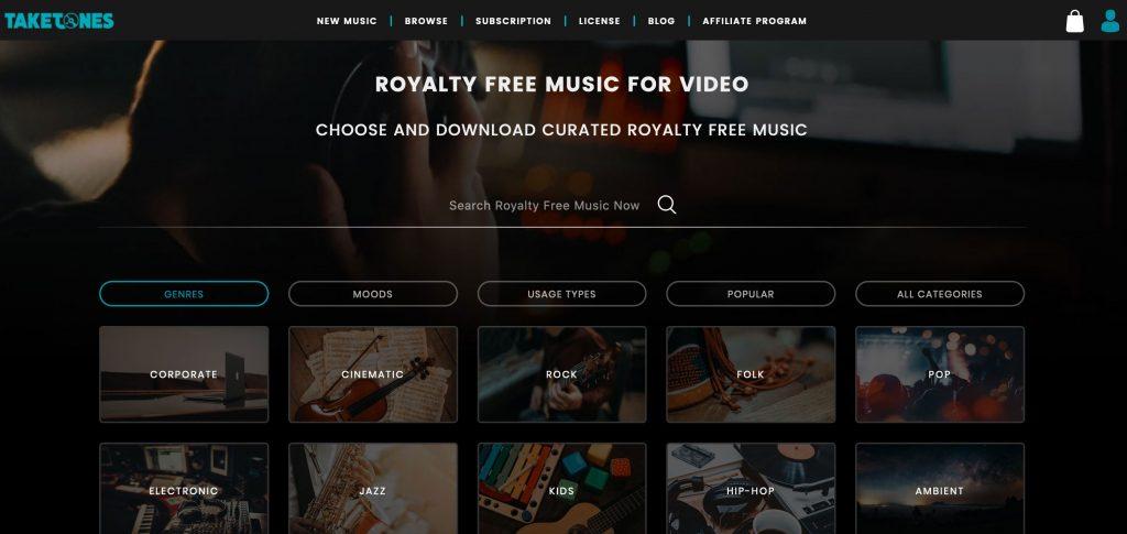 royalty free music sites - Taketones