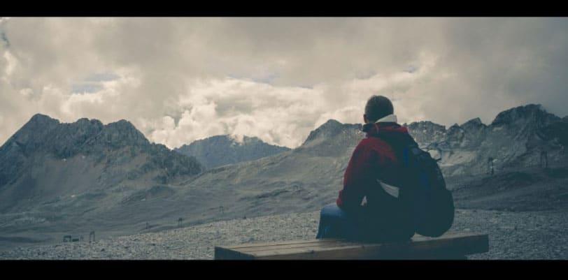 staring at mountains