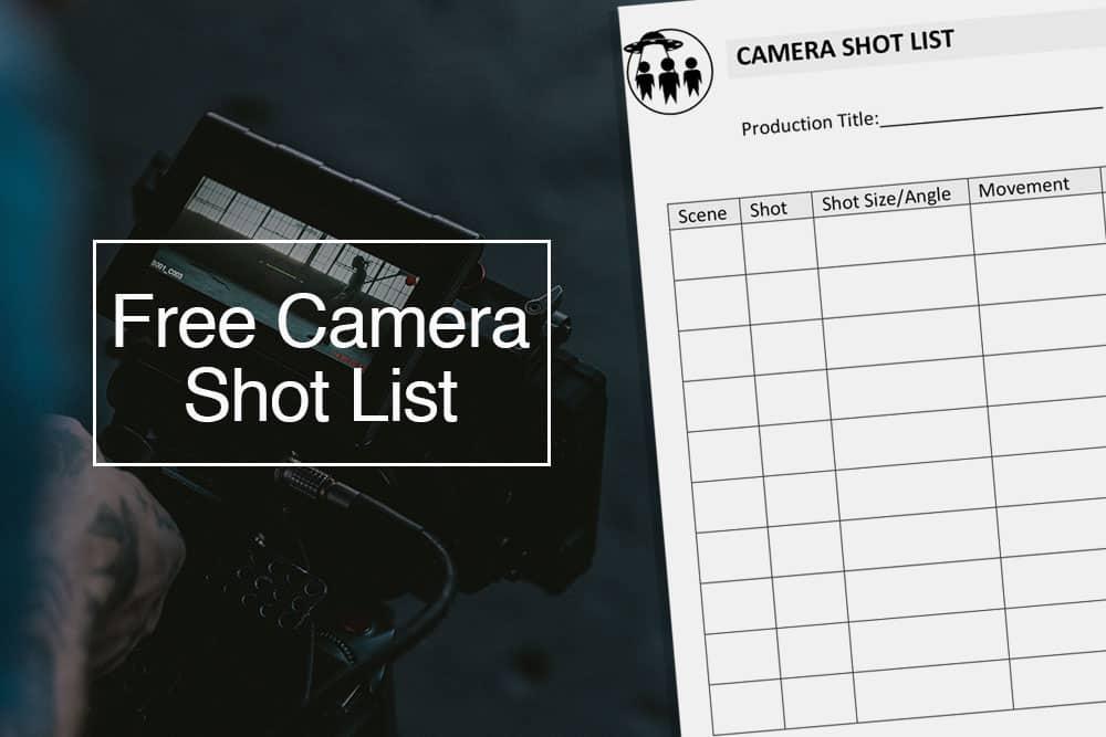 Camera shot list