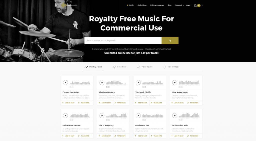 Foximusic website