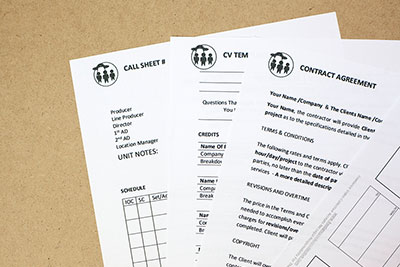 Free Film Production Forms