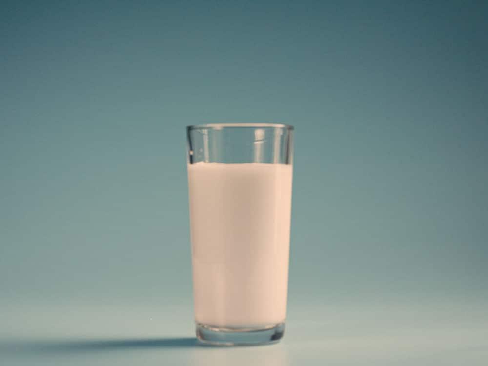 glass of milk shot social media video 4:3