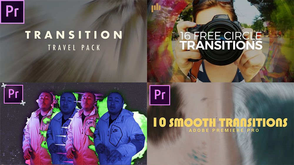 Premiere Pro transitions pack