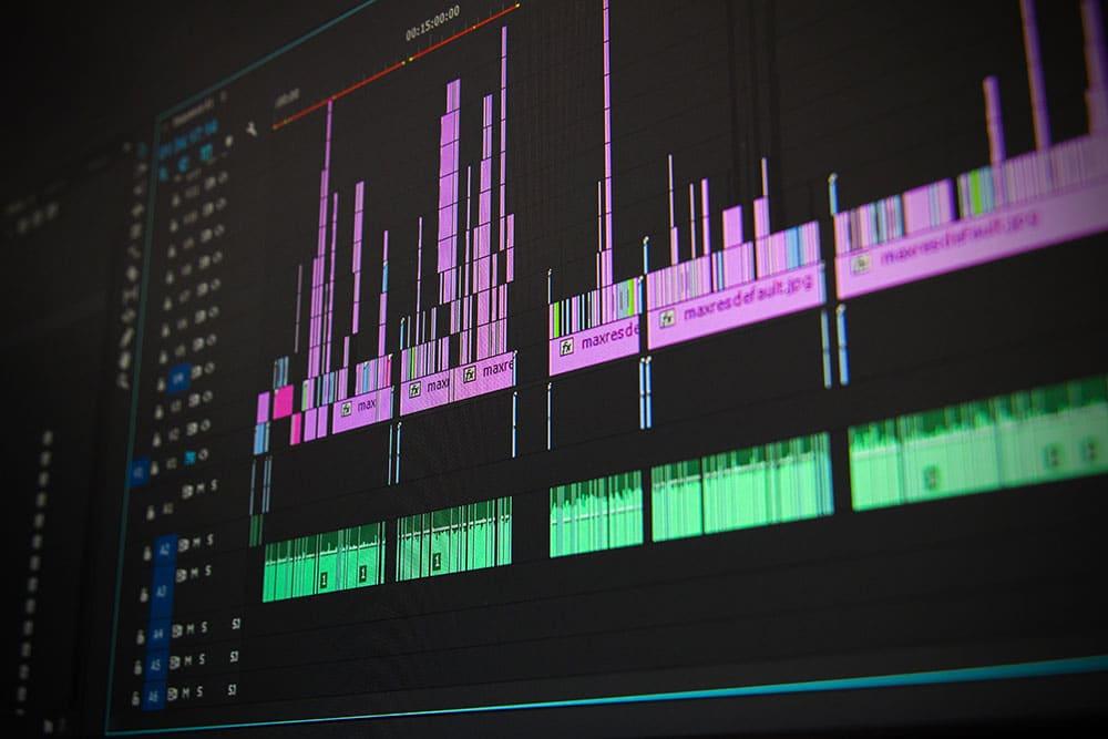 Premiere pro editing timeline