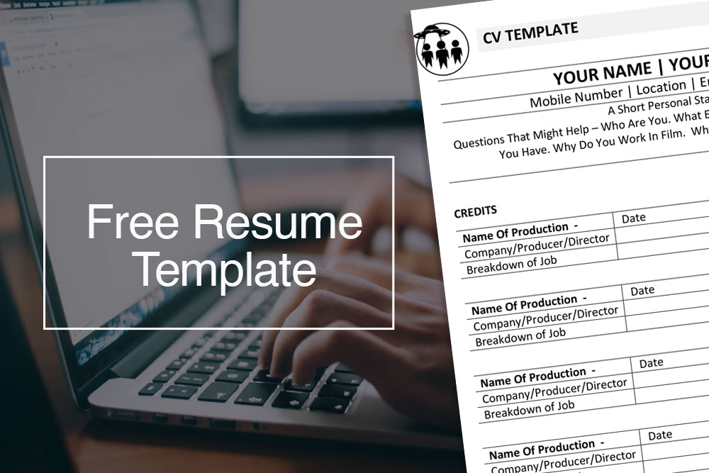 Free film resume template