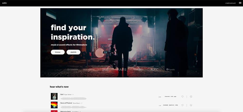 Audiio.com music tracks