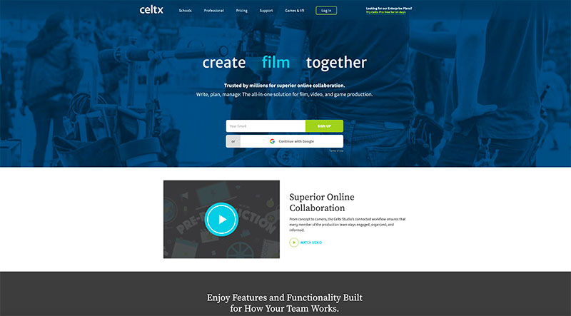 Celtx filmmaking software