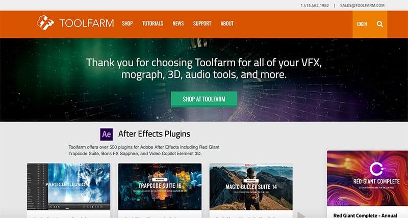 toolfarm after effects templates screenshot