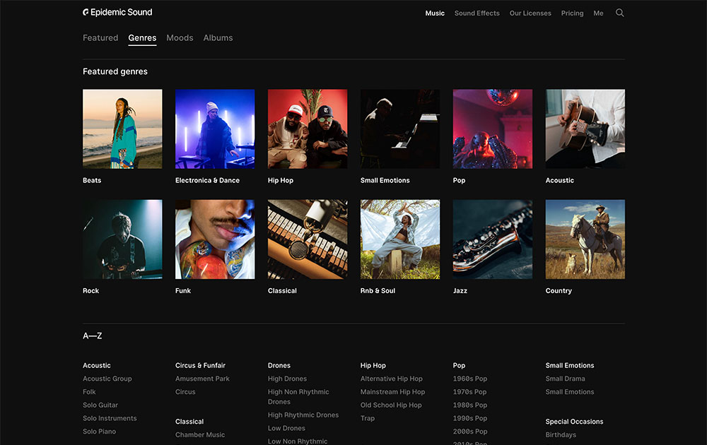 Genres Section