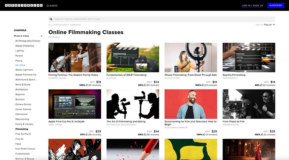 CreativeLive course search