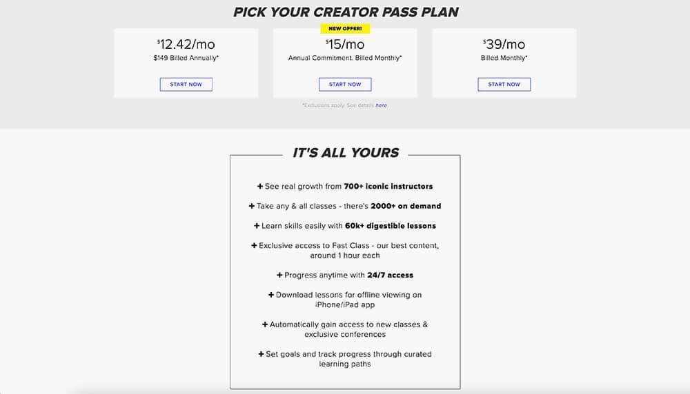 CreativeLive Creators Pass
