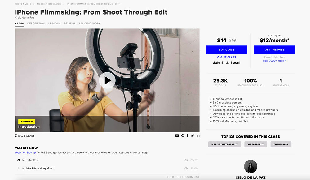 iPhone Filmmaking Course